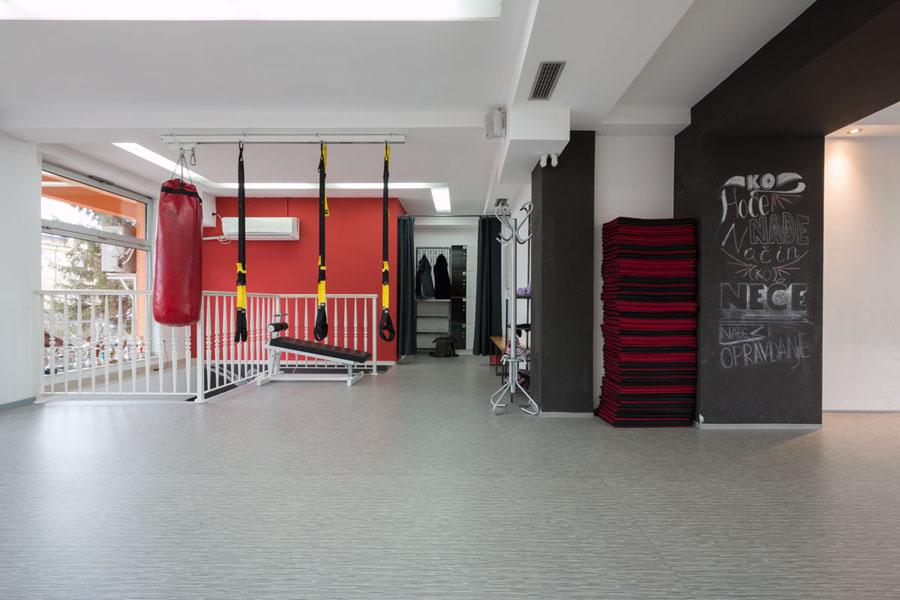 Fitnes studio -Tarkett podovi - vinil za profesionalnu upotrebu
