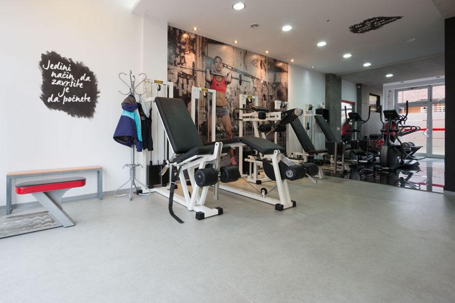 Supreme Fitnes Studio -Tarkett podovi - vinil za profesionalnu upotrebu