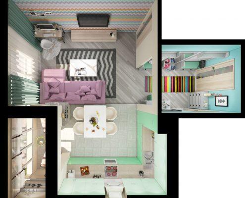 Tarkett blog uređenje malih prostora