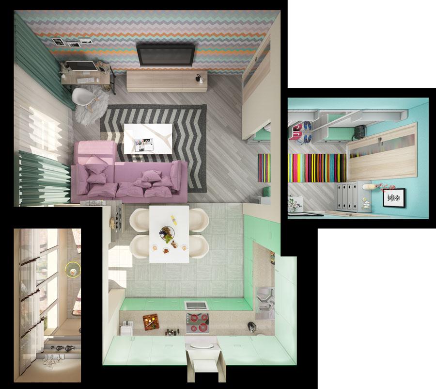 Sre a je u malim stvarima saveti za ure enje malih for Progetti di ristrutturazione appartamenti