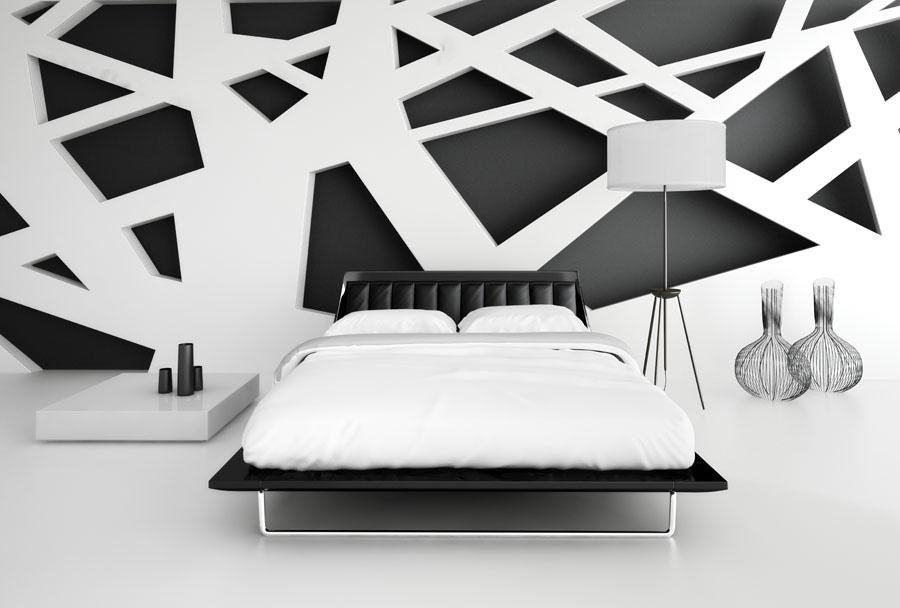 Uredjenje enterijera monohromatska spavaca soba