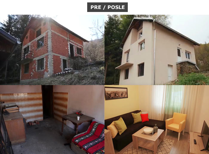 Pre i posle kuca porodice Stankovic
