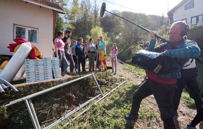 Snimanje emisije S Tamarom u akciji u mestu Crna Trava
