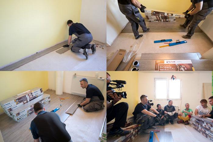 Ugradnja Tarkett laminata u emisiji S Tamarom u akciji