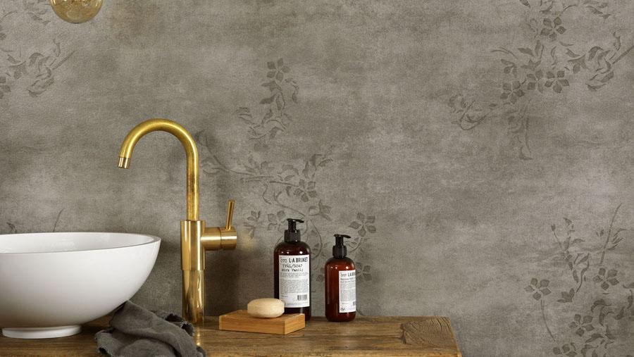 Tarkett zidna obloga za kupatila iQ Optima Aquarelle Concrete Flower Grey 25903136