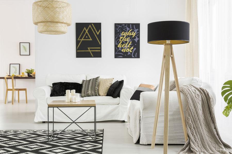 geometrijski motivi za kutak u sobi