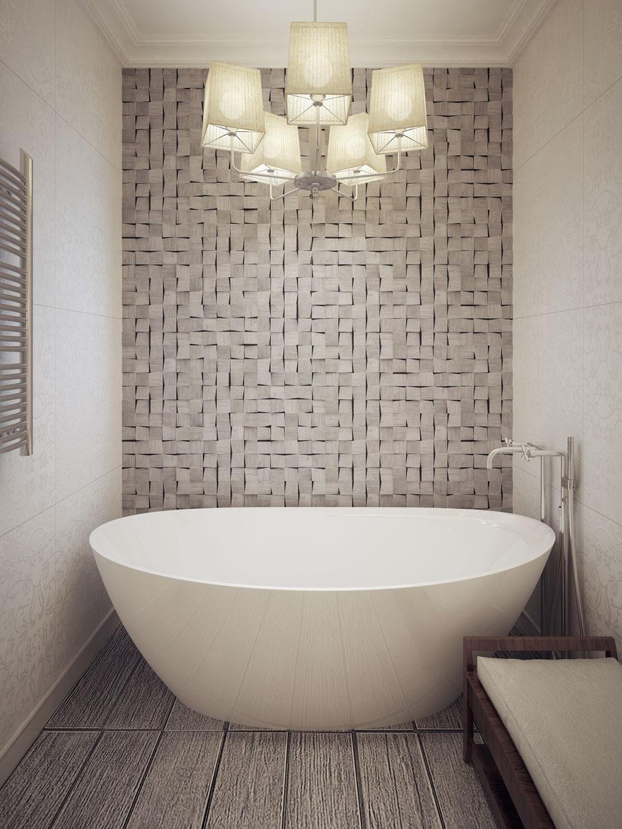 naglasen zid u uredjenju enterijera kupatila