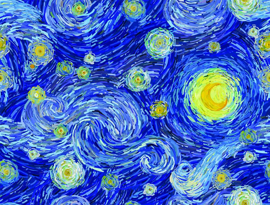 klasično-plava-u-umetnosti-Van-Gog-Zvezdane-noći