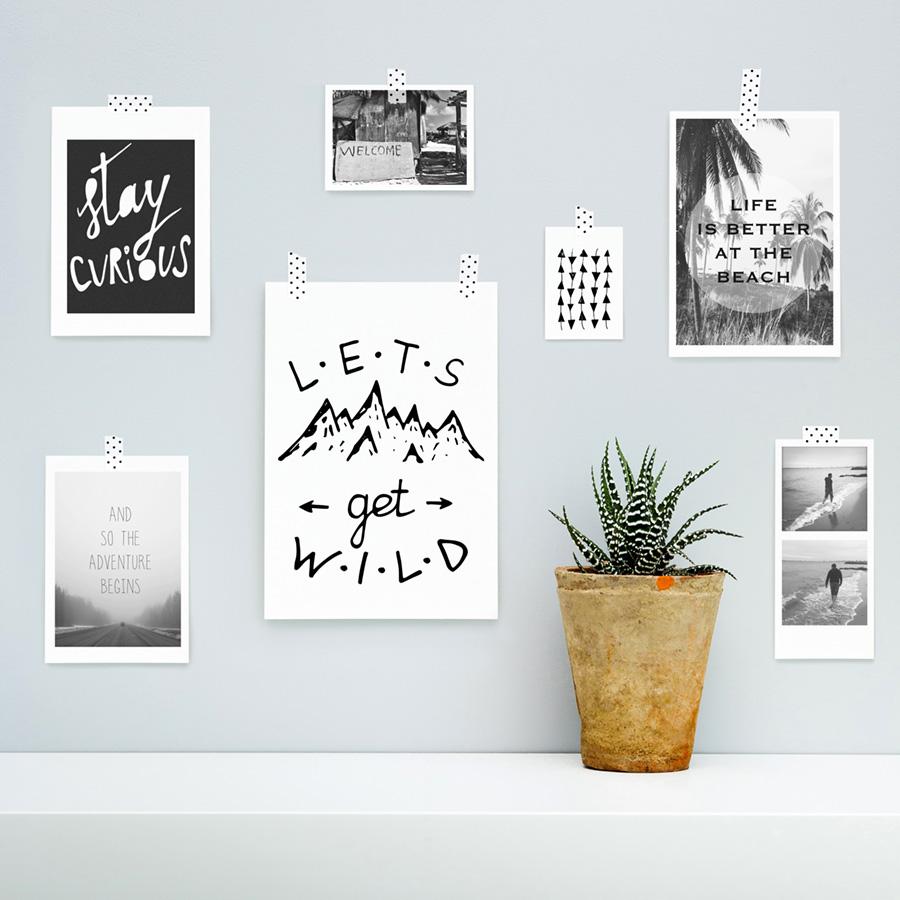 Ideje za uređenje zida - posteri
